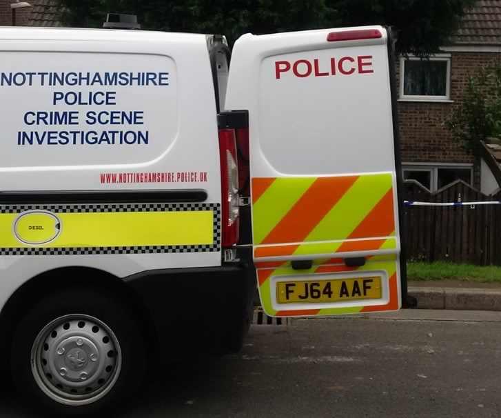 Notts police CSI van outside house