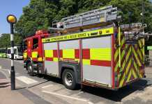 File image - a Nottinghamshire Fire & Rescue appliance in West Bridgford