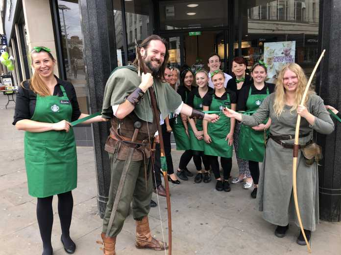The Starbucks store on South Parade in Nottingham reopened today ( Wednesday 15th August ) after a major refurbishment