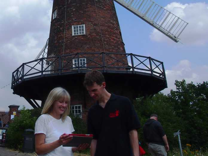 Vicky Stevens from Make Hay and Jamie Duff of Greens Windmill and Science Centre in Nottingham