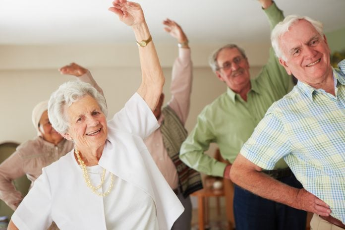 Older people exercise 1