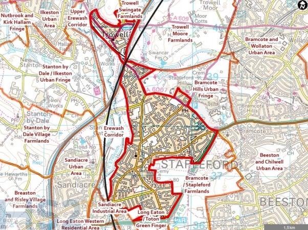 Hs2 map stapleford
