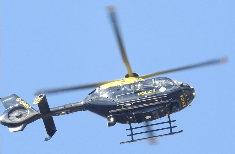 Helicopter deployed as armed police arrest driver after Nottingham pursuit