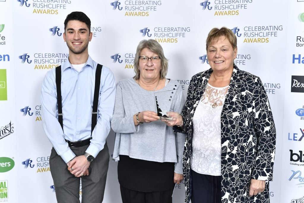 Linda Smith and Linda Chenoweth from Chestnut Avenue Super Kitchen won Health and Wellbeing Award from Si at The Bot
