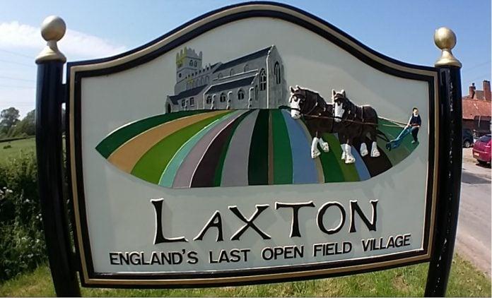 Laxton village sign