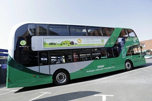 New NCT Green 10 Gas Bus exterior 2