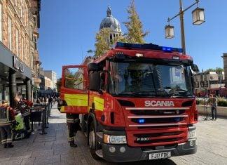 File image A Nottinghamshire Fire & Rescue Service vehicle in Nottingham © westbridgfordwire.com