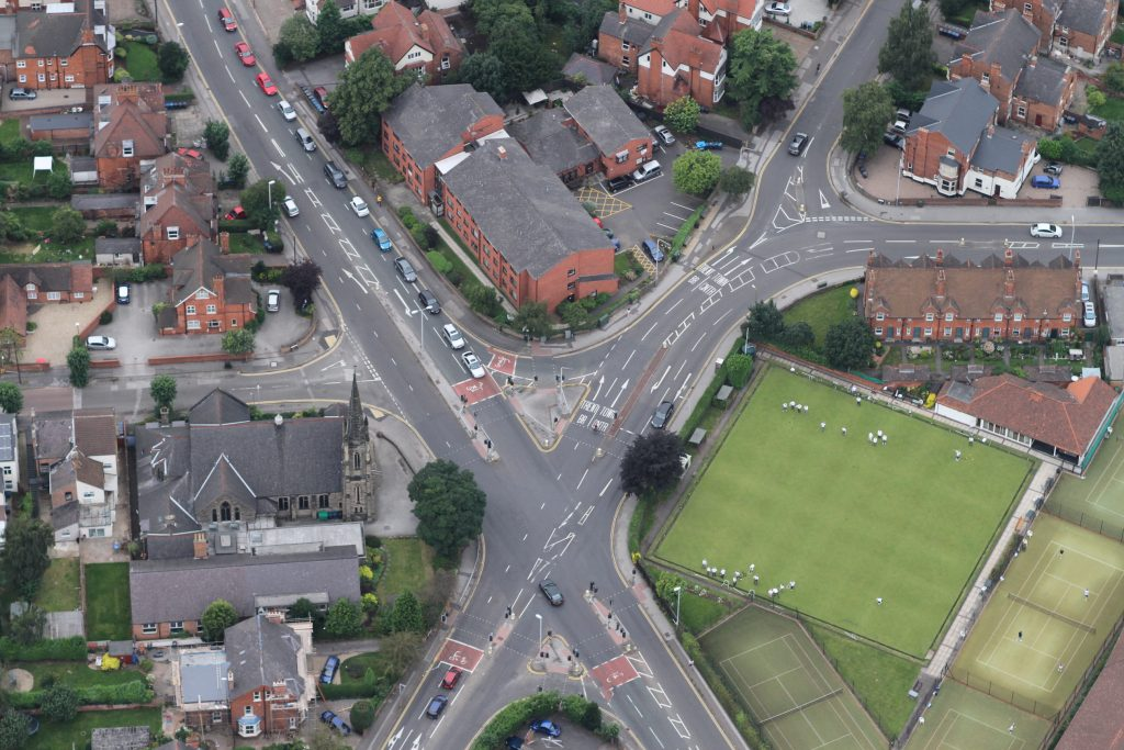 A match underway at West Bridgford Bowling Club on Rectory Rd -  Junction with Melton Rd and Musters Rd - Photo © Robin Macey
