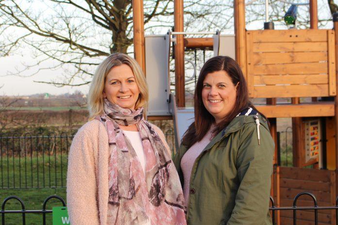 Newton Parish Councillors Yvonne Stephenson and Isabel Shouler