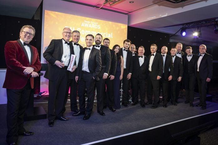 The RHCV team celebrate their win at RTUK Awards
