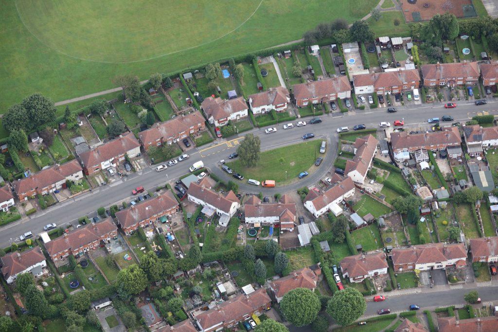 Beeston - Dennis Ave. At top is Beeston Fields Recreation Ground -photo Robin Macey