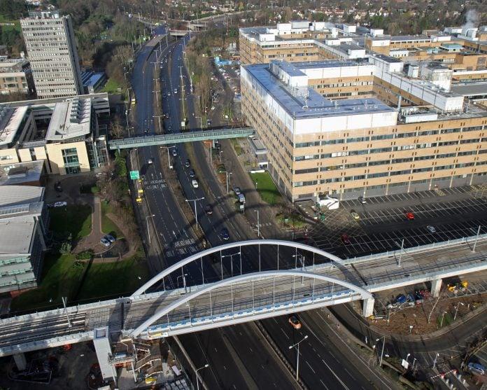 B001 IMG 6874 tram bridge at QMC photo Robin Macey