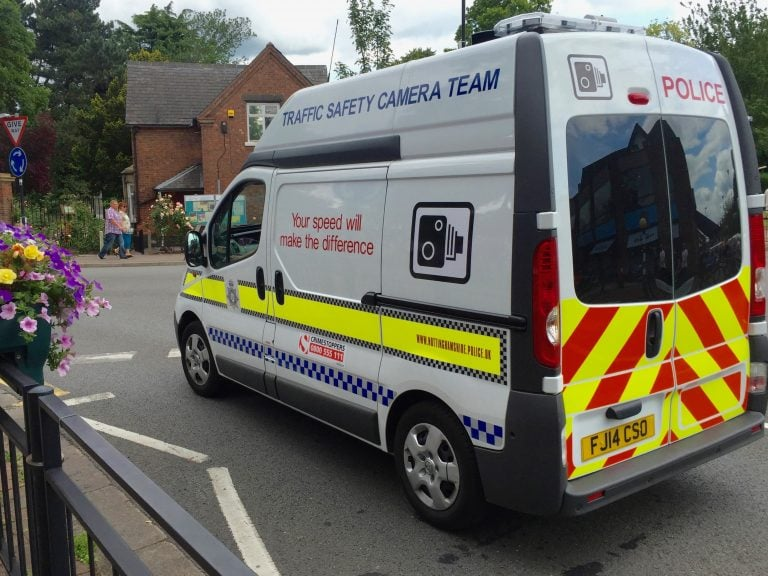 Flashing lights to warn motorists about speed camera vans could land you with a £1,000 fine