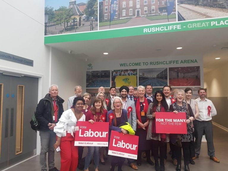 Rushcliffe Labour celebrate four new seats on the council