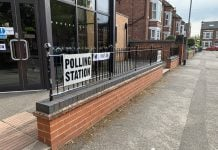 © westbridgfordwire.com Polling station in Patrick Road, West Bridgford on 2nd May 2019