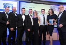 James Willow (left) and Butler & Willow team accept People Development Award