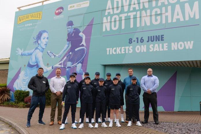 Nottingham Open Ryan Middleton, Mike Wisner, Dave Everington, Steve Mills Nottingham Tennis Centre and ball crew