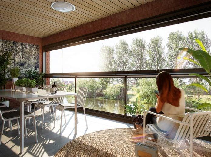 The Winter Garden in Trent Basins show home