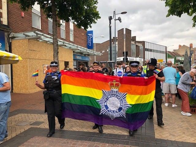Notts police attend Worksop Pride 2019