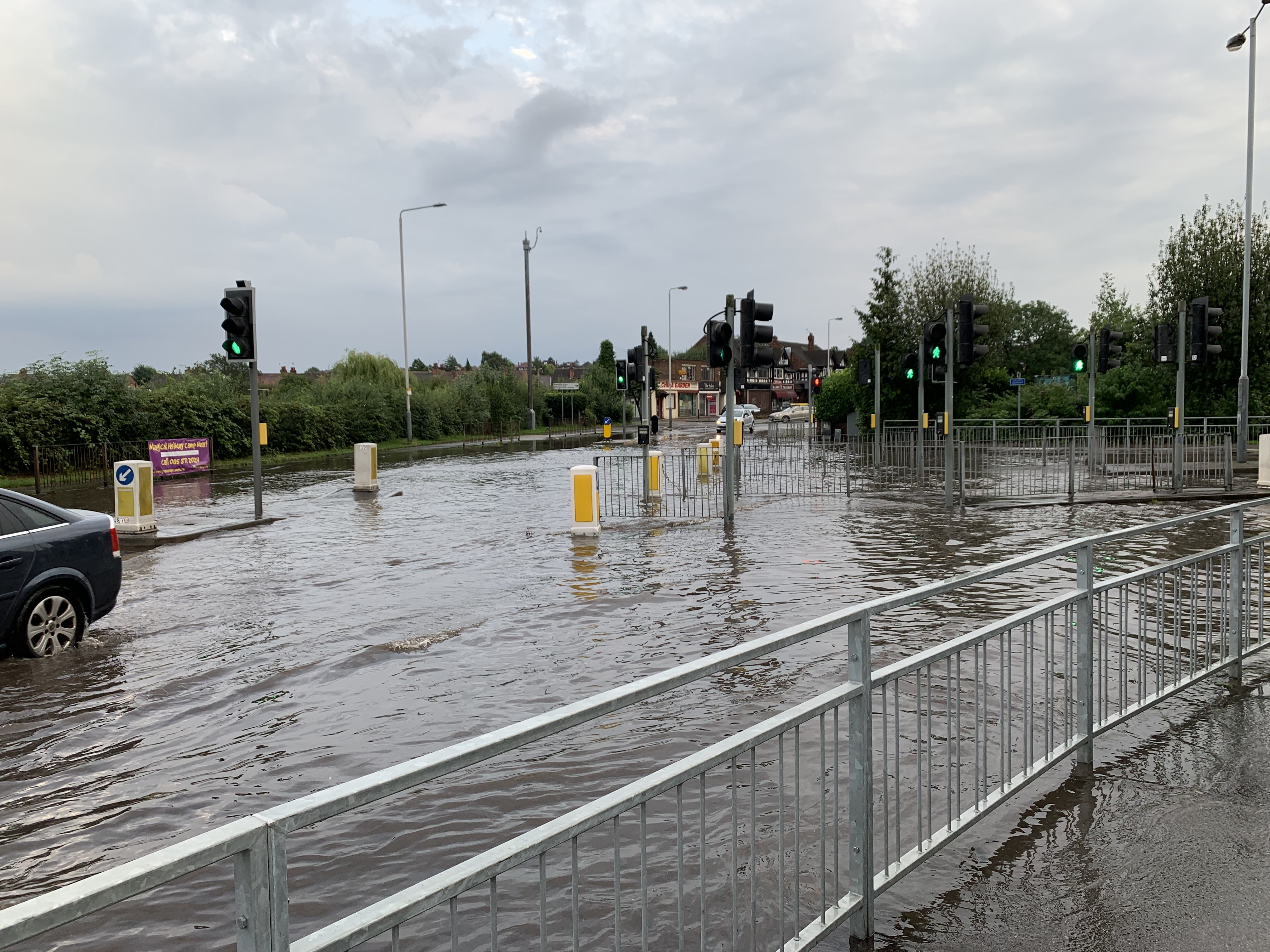 Video And Pictures Flooding On Loughborough Road In West