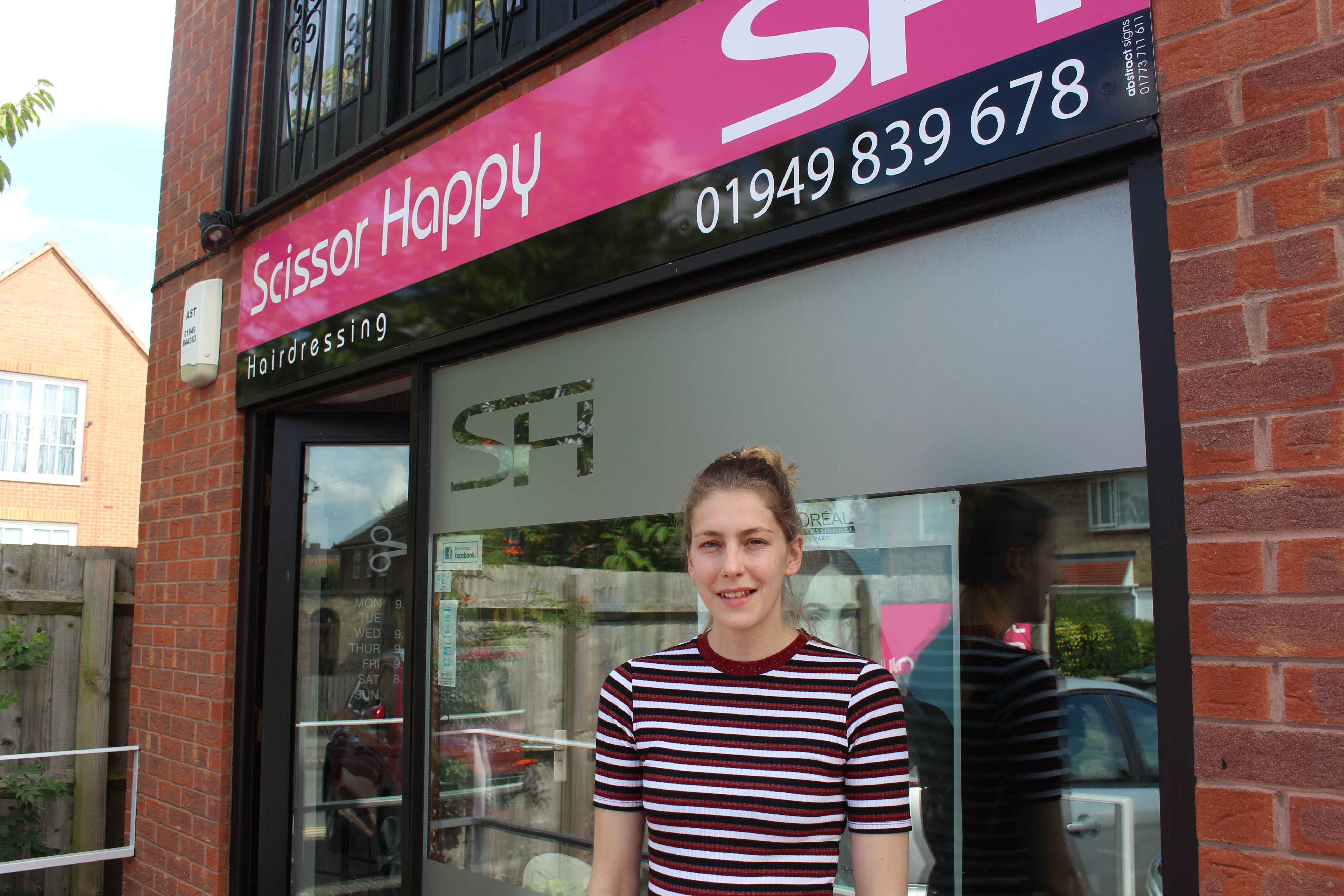 Scissor Happy's Jodie Girton was delighted with the impact of the grant at the Bingham business.