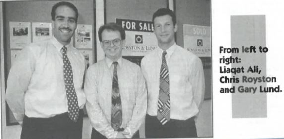 The Royston Lund team 22 July 1994