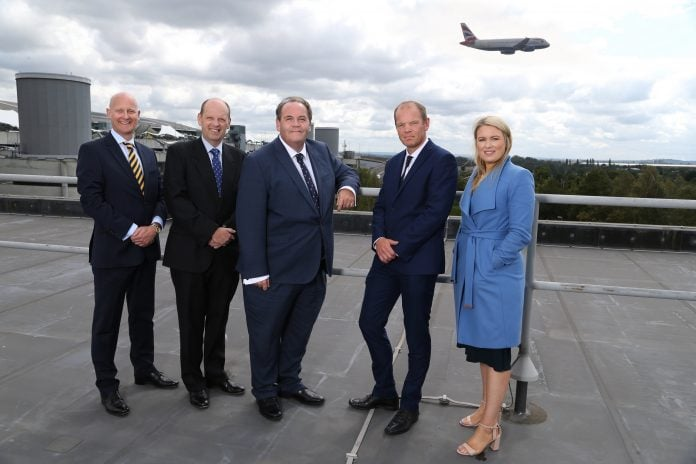 Bruton Knowles Team at Heathrow. Full caption in notes to editors