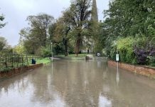 © westbridgfordwire.com Floods in Colston Bassett 26 October 2019