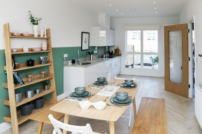 The show homes kitchen dining area