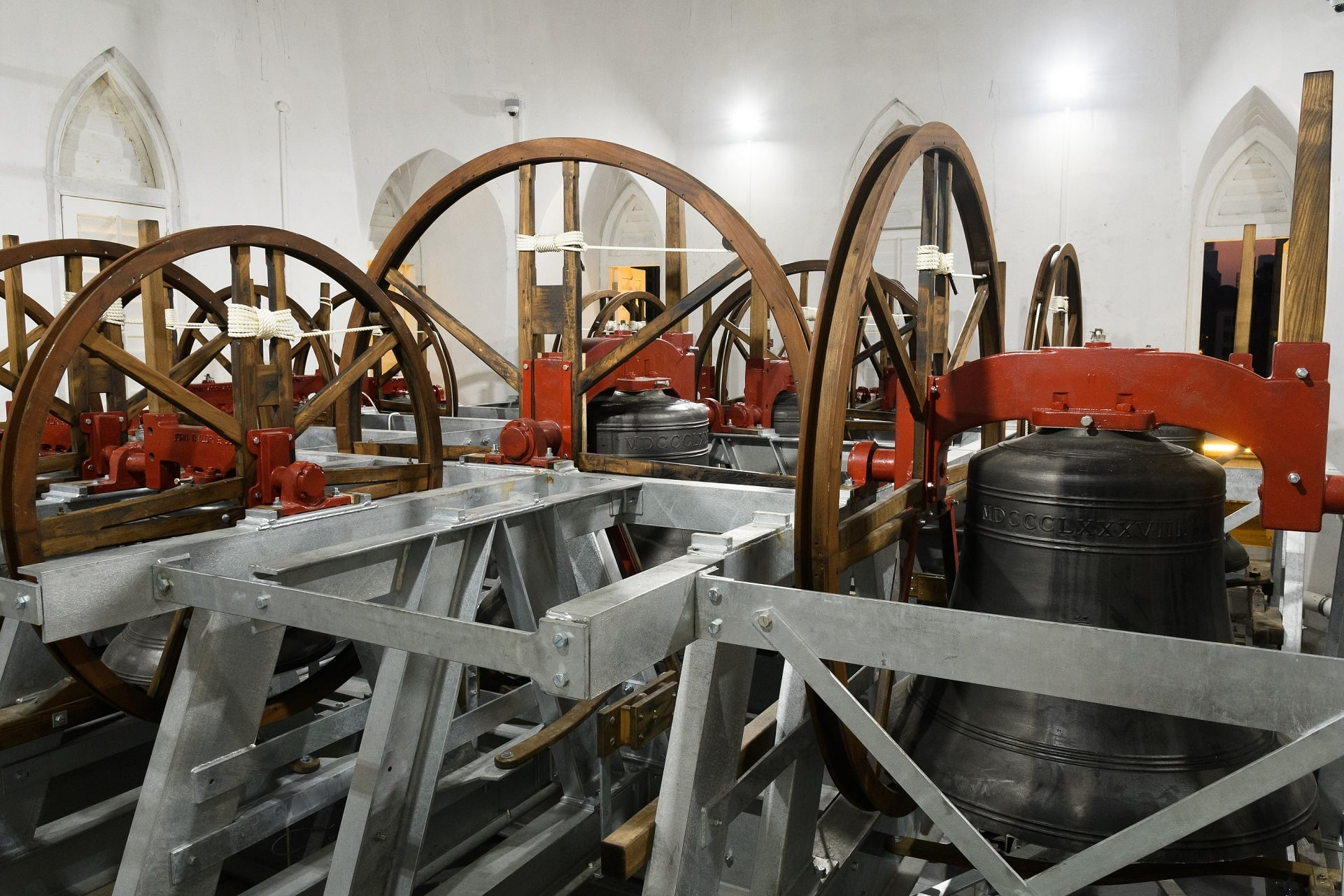 Thirteen bells were cast and tuned for Singapore's largest Cathedral St Andrew's