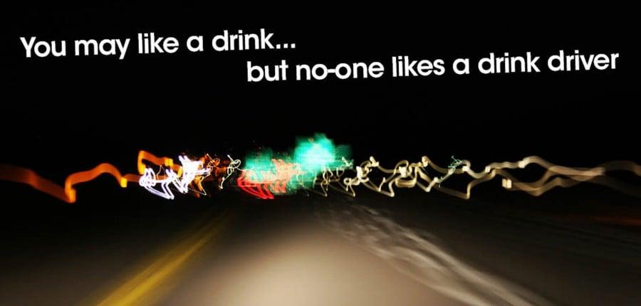 Drink drive campaign social media graphic crop