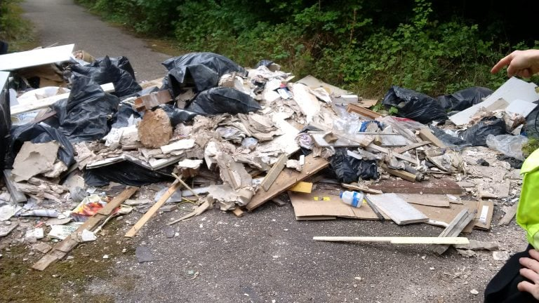 Pictures and Video: Nottingham man sentenced after fly-tipping asbestos and other hazardous waste