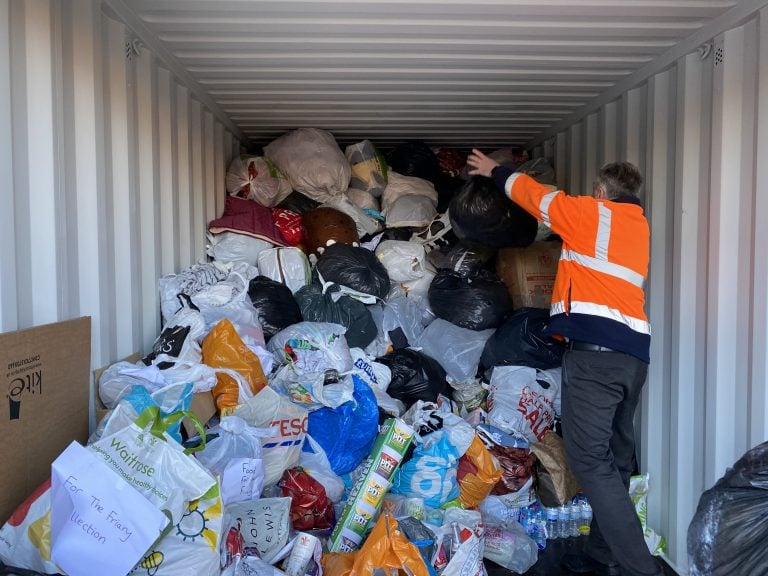 Rushcliffe residents donate over 13 tonnes of food and clothes to The Friary