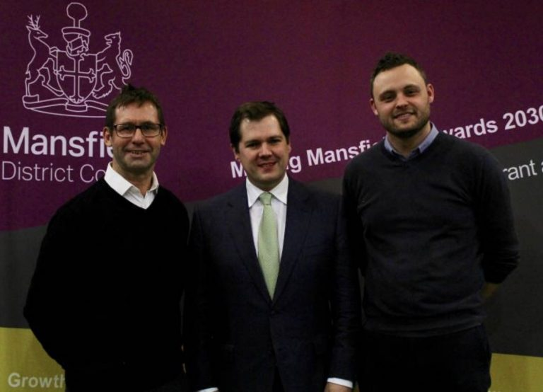 Communities Secretary in Mansfield on £25 million Towns Fund tour