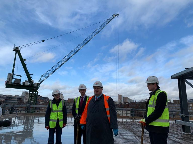 Broadmarsh development on target despite lost time because of stormy weather