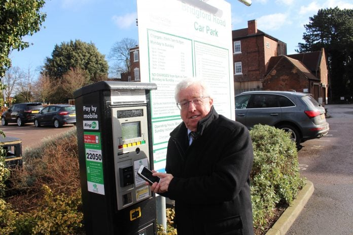 Cllr Gordon Moore is among those who uses the Ring Go app at Rushcliffe car parks