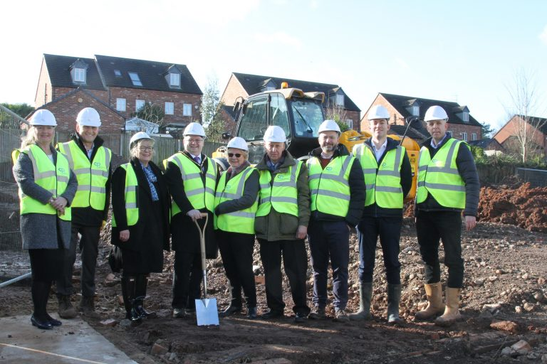 Ground-breaking ceremony takes place on site of new Bingham care home
