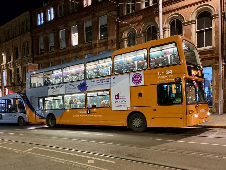 A52: Nottingham City Transport service changes – 13 February