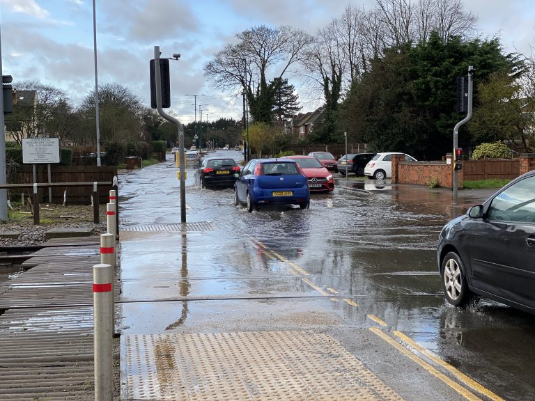 Delays on Wilford Lane – standing water