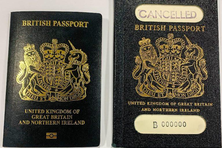 Iconic blue British passports return next month