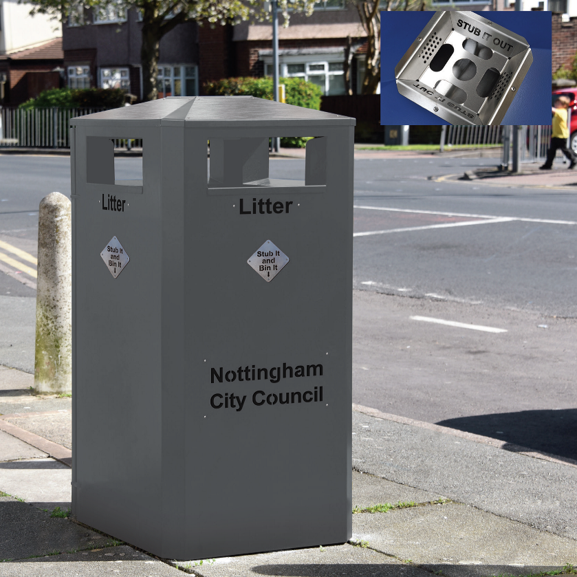 These Bins Are Being Replaced In Nottingham City Centre