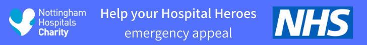 Help your Hospital Heroes emergency appeal banner ad