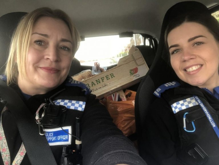 Notts PCSOs help with food deliveries in Nottinghamshire