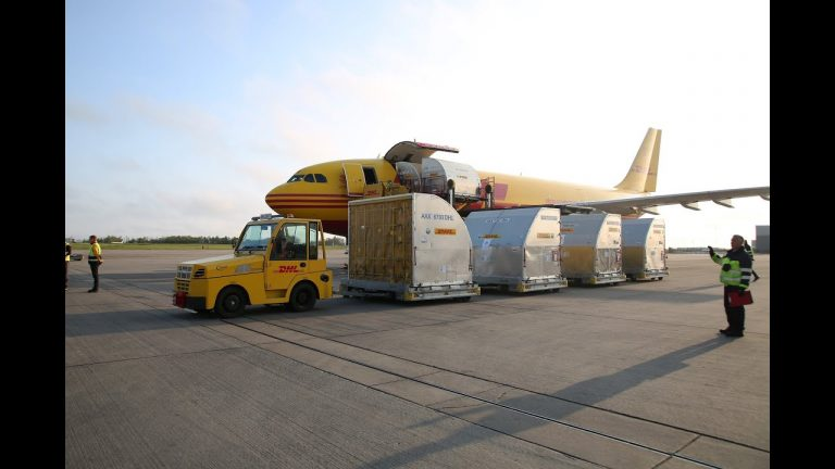 100,000 face shields arrive at East Midlands Airport