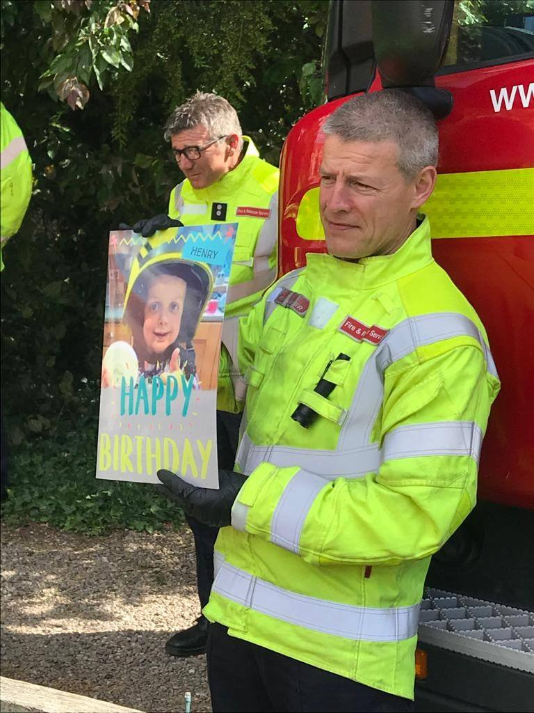 'Henry the Brave' surprised by Notts Fire on his fifth birthday