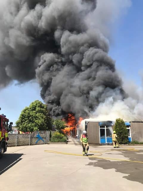 Pictures: Long Eaton school fire – crews continue into the evening – firefighters injured