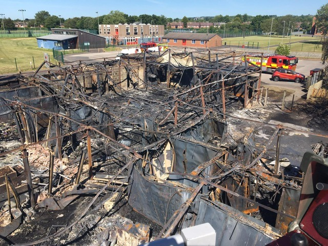 School 'totally destroyed' in fire – probable cause refurbishment works on site