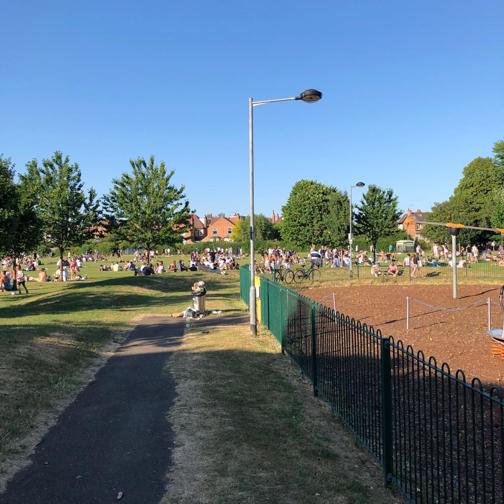 West Bridgford residents' outrage at 'huge gatherings' and litter in Bridgford Park
