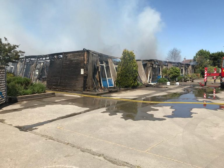 Large fire breaks out at a Long Eaton school