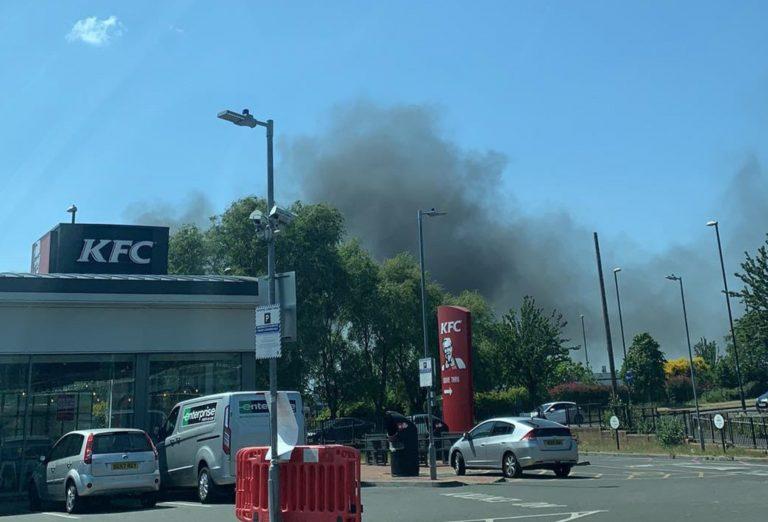 Fire breaks out near Lady Bay Retail Park